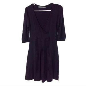 ZARA Surplice Pleated Dress
